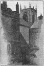 YORKS. Hull. Tower of Holy Trinity 1898 old antique vintage print picture